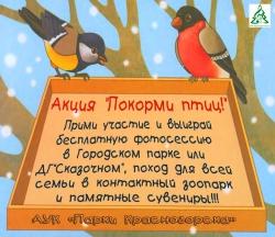 """Экологическая акция-конкурс """"Покорми птиц!"""" от АУК """"Парки Красногорска""""."""