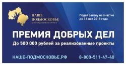 Ежегодная премия Губернатора Московской области «Наше-Подмосковье» (помощь в подготовке проектов).