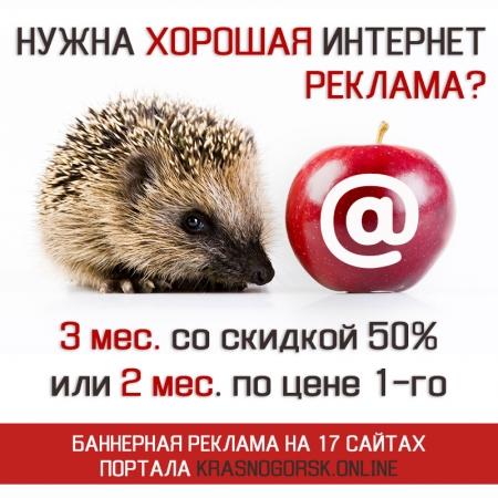 Акция портала Krasnogorsk.ONLINE «С начала мая рекламу размещаю!» для организаций из Красногорска.